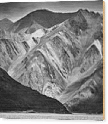Mountains At Pangong Wood Print by Whitney Goodey