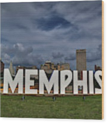 Mud Island Memphis Monument 001 Wood Print by Lance Vaughn