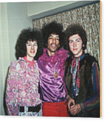 Music Personalities Pic Circa 1968. The Wood Print by Rolls Press/popperfoto