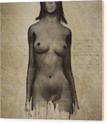Naomi Standing In Front Wood Print by Jan Keteleer