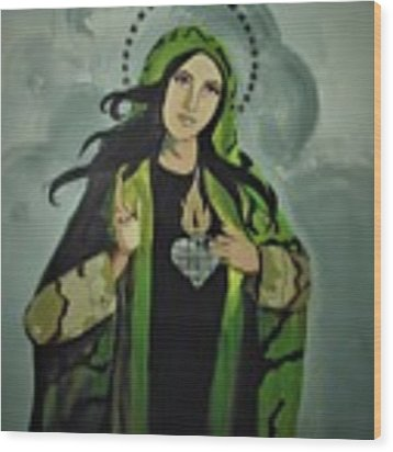 Our Lady Of Veteran Suicide Wood Print by MB Dallocchio
