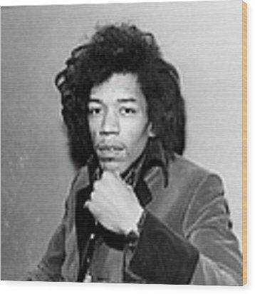 Photo Of Jimi Hendrix Wood Print by Ca