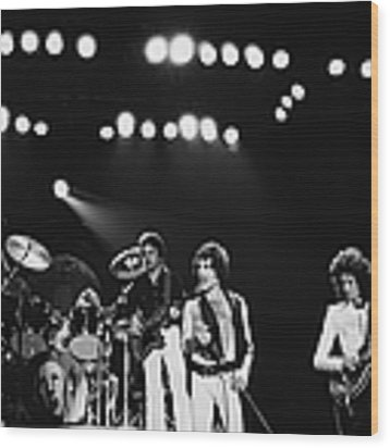 Queen Live In Rotterdam Wood Print by Fin Costello