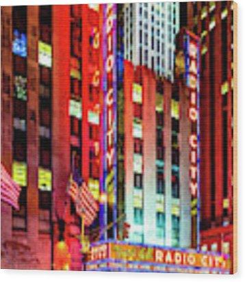 Radio City Music Hall Wood Print by Miles Whittingham