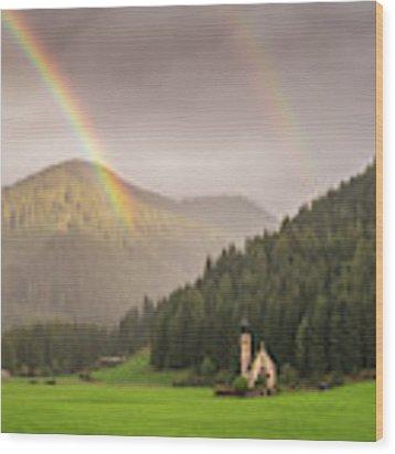 Rainbow Over St  Johann Wood Print by James Billings