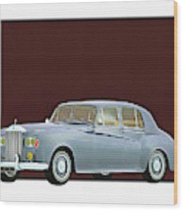 Rolls Royce Silver Cloud IIi 1963 Wood Print by Jan Keteleer