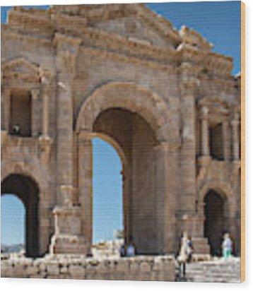 Roman Arched Entry Wood Print by Mae Wertz