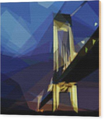 San Francisco Bridge Wood Print by ISAW Company