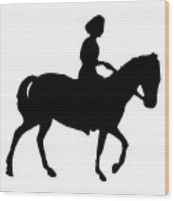 Silhouette Of A Woman On Horseback Wood Print by Rose Santuci-Sofranko