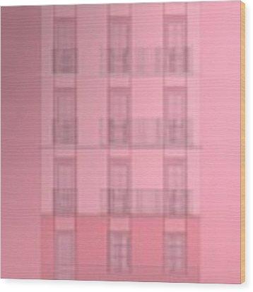 Spanish Architecture Over Violet Background. Wood Print by Alberto RuiZ