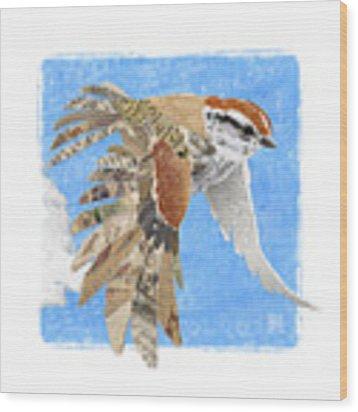 Sparrow Wood Print by Clint Hansen