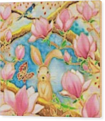 Spring Has Come Wood Print by Hisayo Ohta
