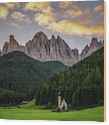 St Johann Sunrise Wood Print by James Billings