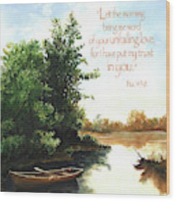 Still Waters Wood Print by Clint Hansen