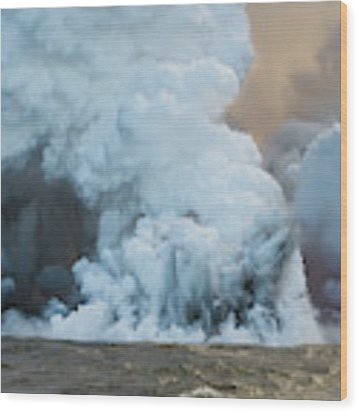 Submerged Lava Bomb Wood Print by William Dickman