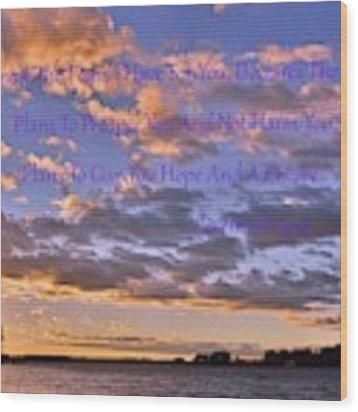 Sunrise Sky Jeremiah 29 11 Wood Print by Lisa Wooten