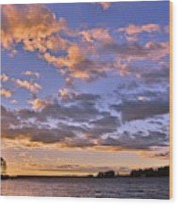 Sunrise Sky Wood Print by Lisa Wooten