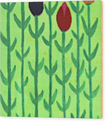 The First Sign Of Spring Wood Print by Deborah Boyd