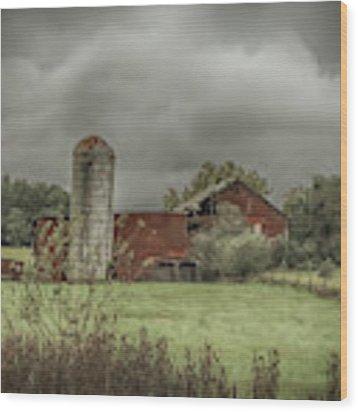 Threatening Skies Wood Print by Judy Hall-Folde
