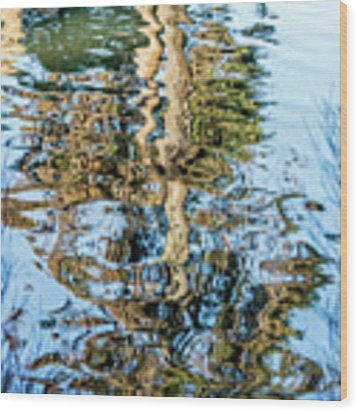 Tree Reflection Abstract Wood Print by Kate Brown