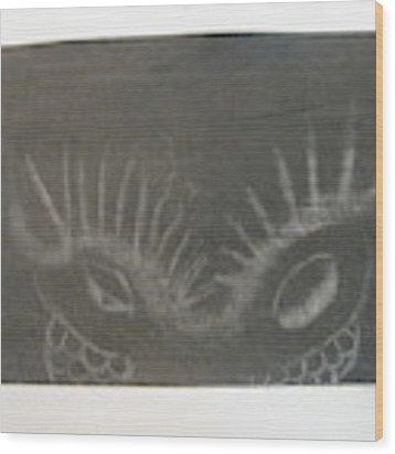 Upper Dragon Face Wood Print by AJ Brown