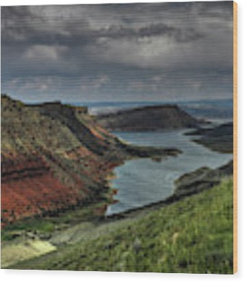 Utah - Flaming Gorge 005 Wood Print by Lance Vaughn