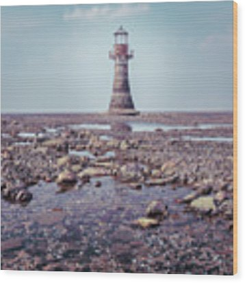 Whiteford Point Lighthouse Wood Print by Elliott Coleman