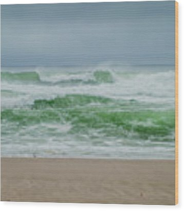 Wild Waves Wood Print by Judy Hall-Folde