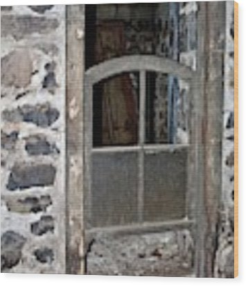 Window Below Wood Print by Ann E Robson