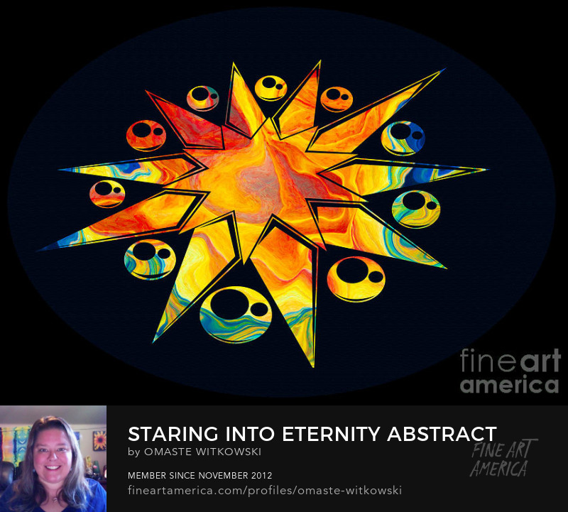 Staring Into Eternity Abstract Shapes and Symbols Art Prints