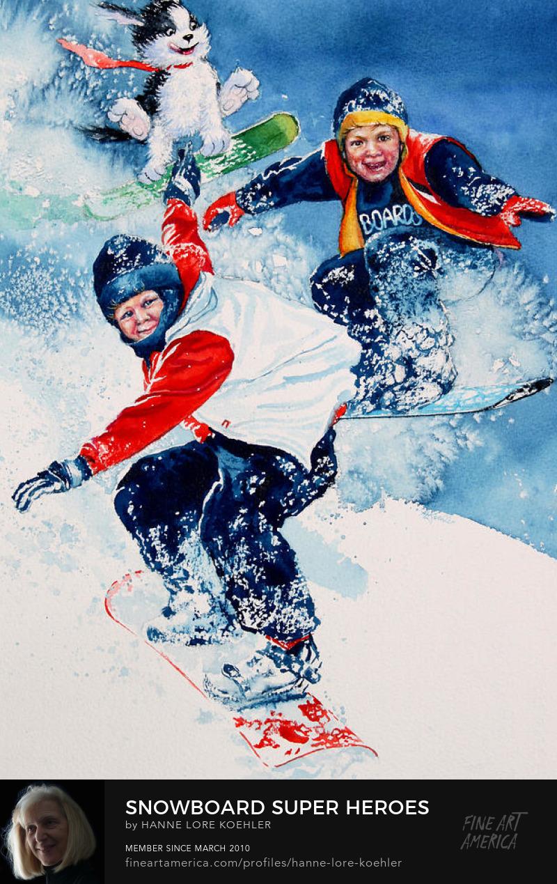 Kids Snowboard Art Online