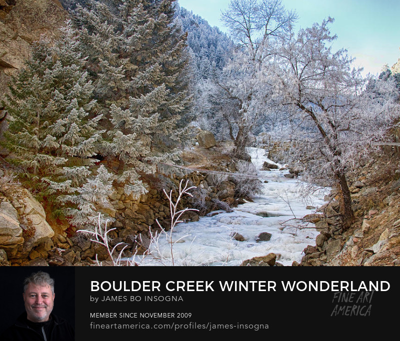 Boulder Creek Winter Wonderland Art Prints