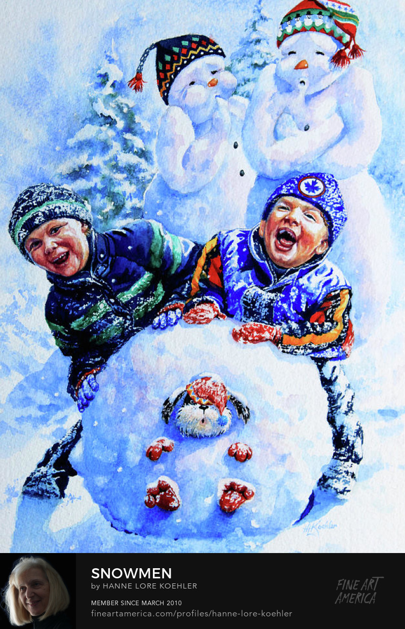 Painting Of Children Playing In Snow