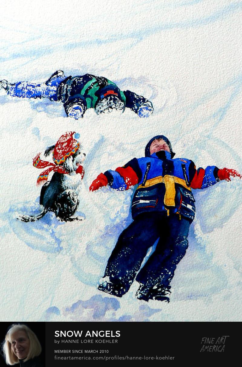 Snow Fun Art Prints For Kids