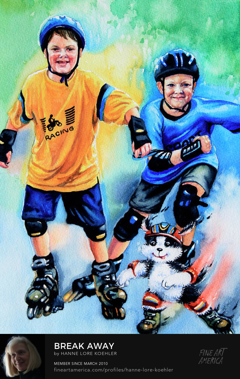 Kids In-line Skating Art