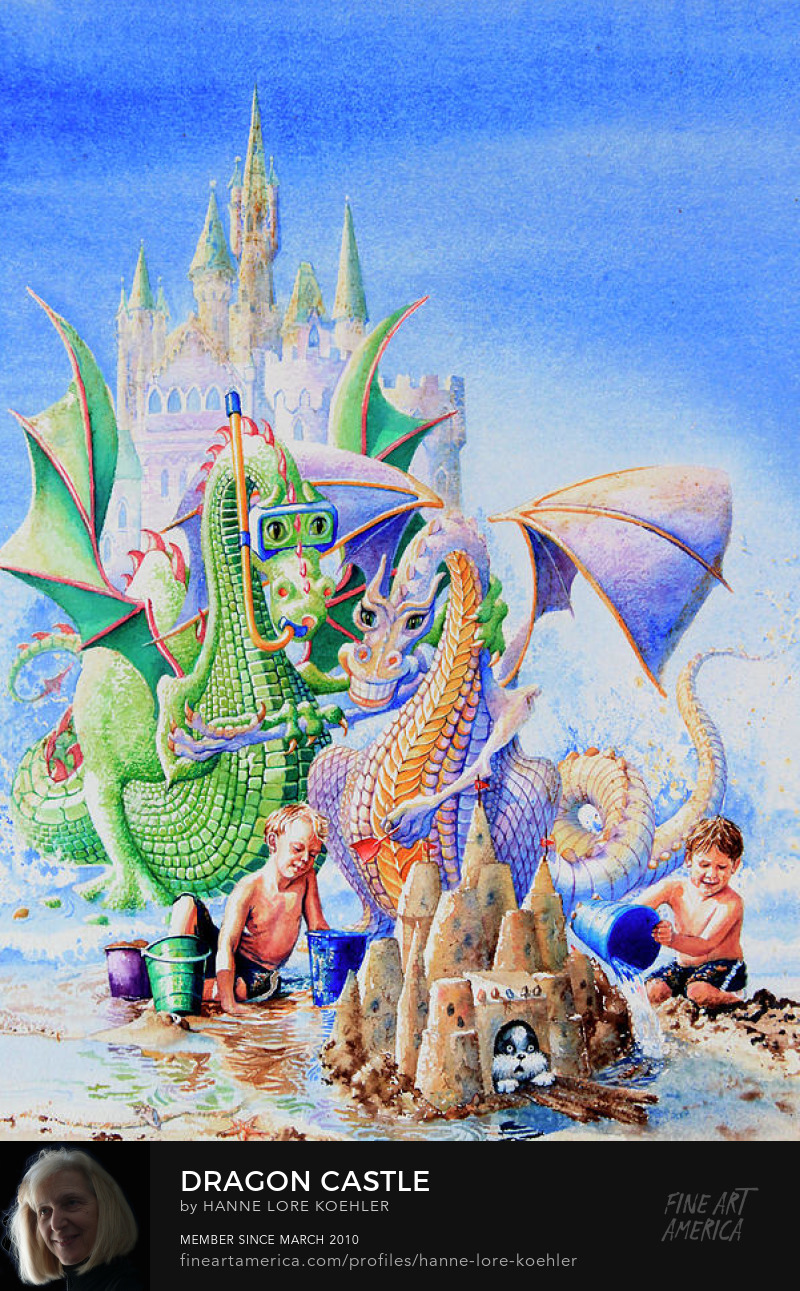 Dragon Castle Mural And Art Prints