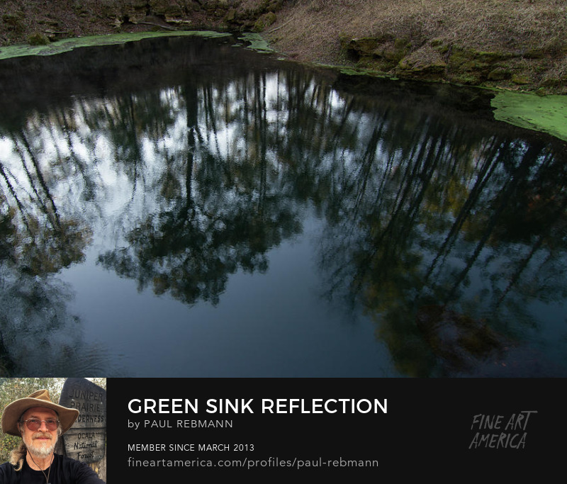 Green Sink Reflection by Paul Rebmann