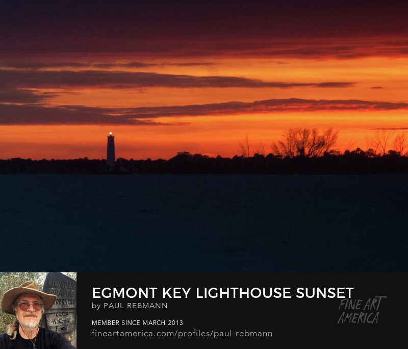 View online purchase options for Egmont Key Lighthouse Sunset by Paul Rebmann