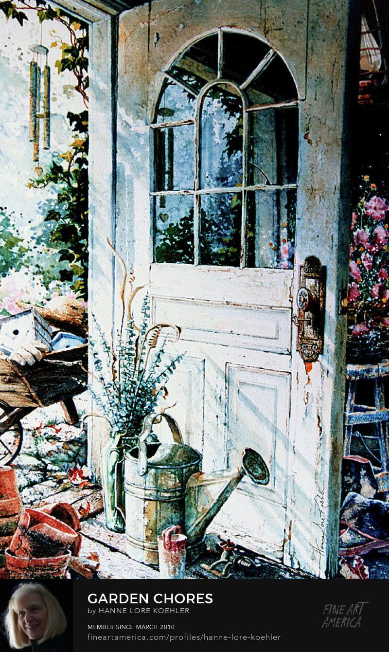 Garden Door Painting