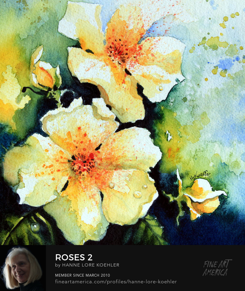 Paintings Of Roses
