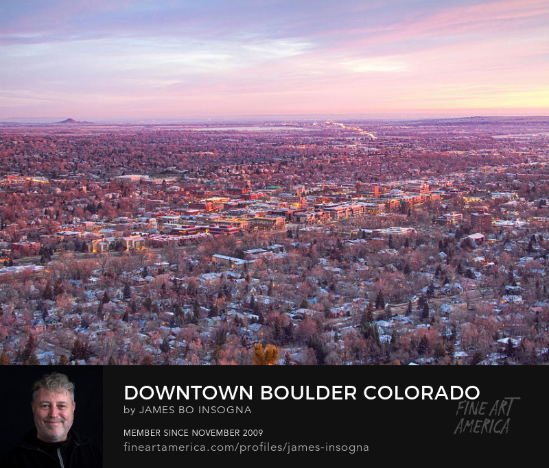 Downtown Boulder Colorado Morning View Art Prints