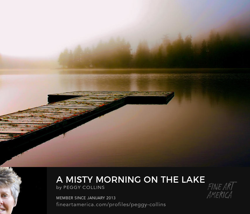 misty morning on the lake by peggy collins