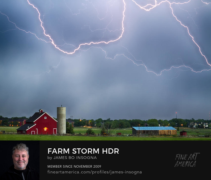 Farm Storm Hdr Photography Prints