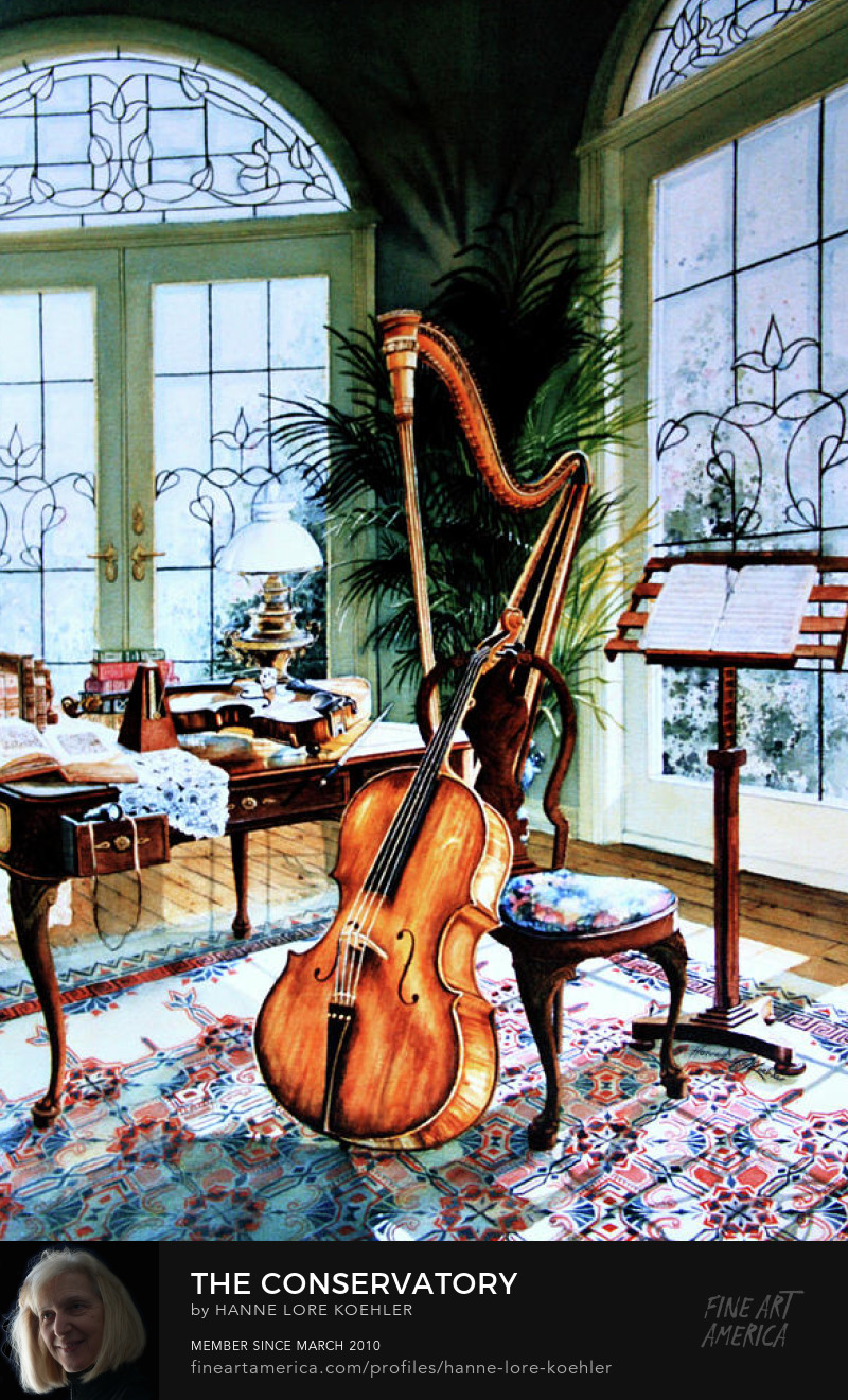 Musical Instrument Canvas Painting