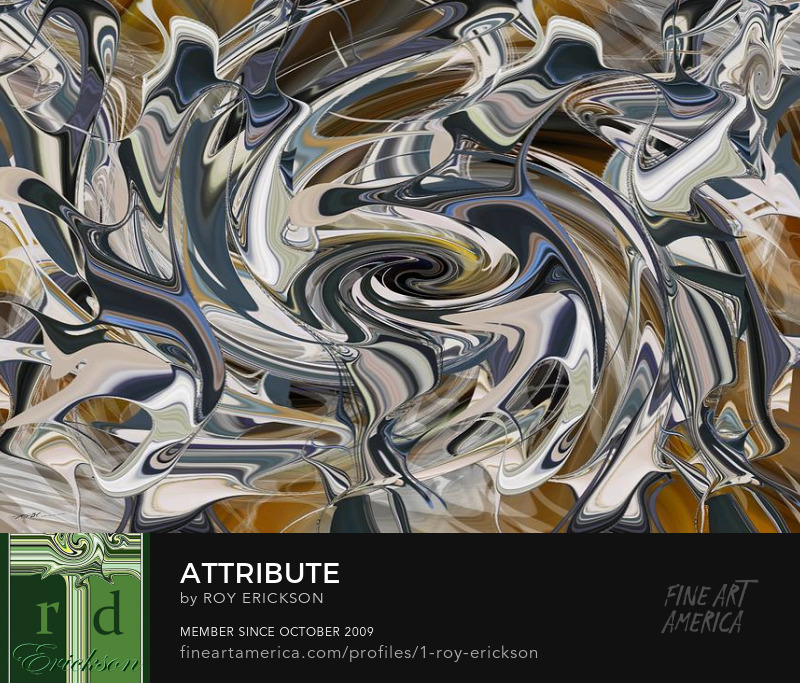 Tribute digital abstract art