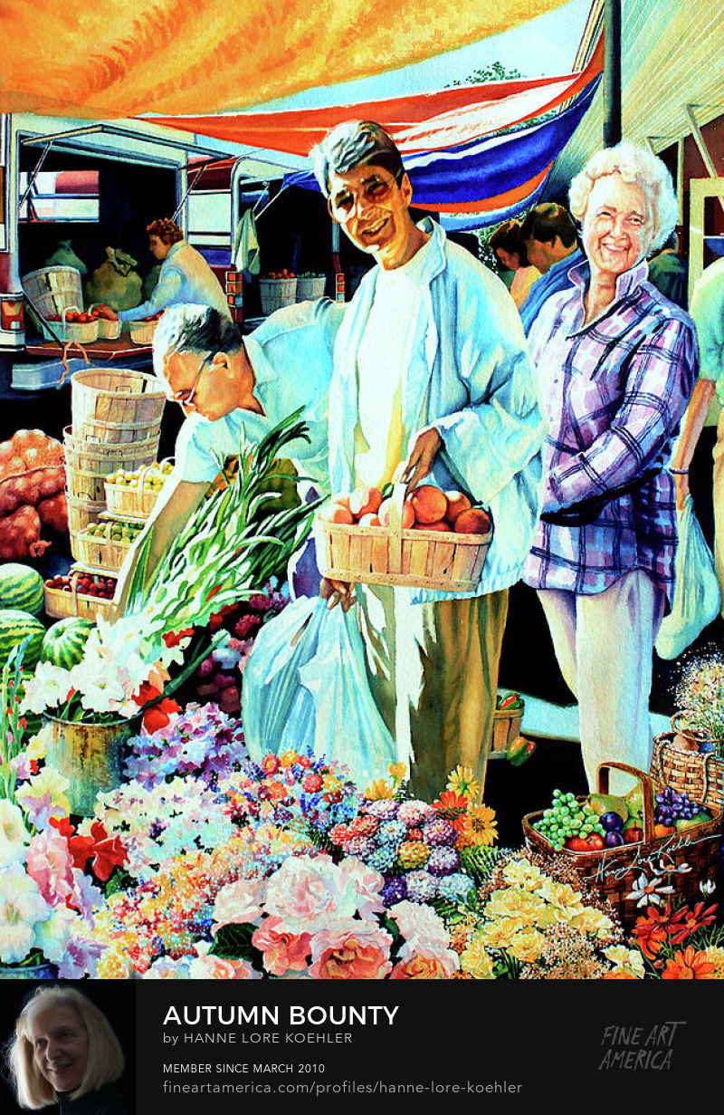Country Farmers Market Painting