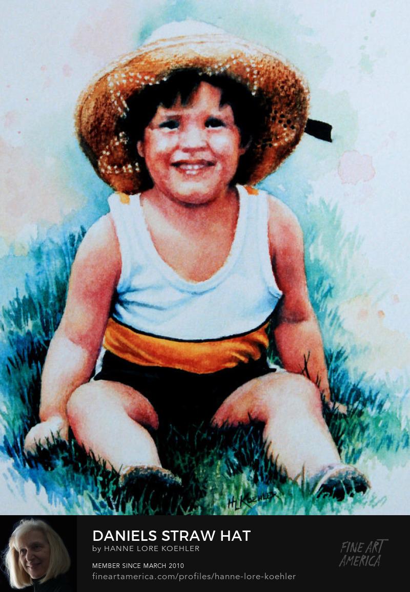 Child Watercolor Portrait Art Prints