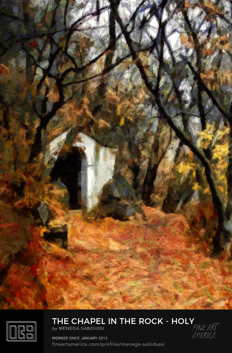 trees hill chapel autumn rocks painting menega sabidussi