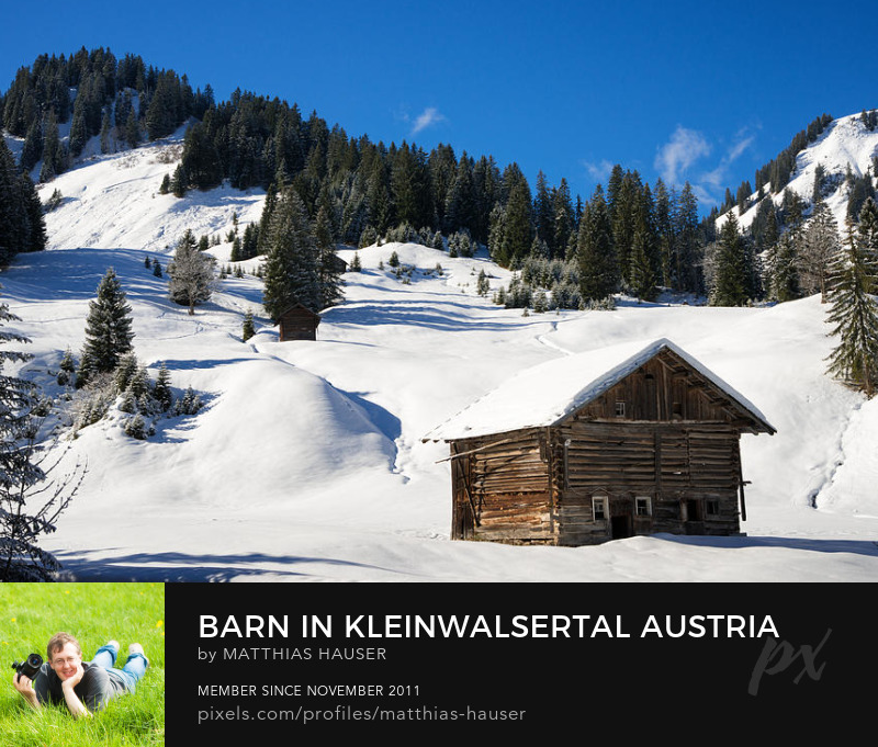 Barn in Austria Art Print