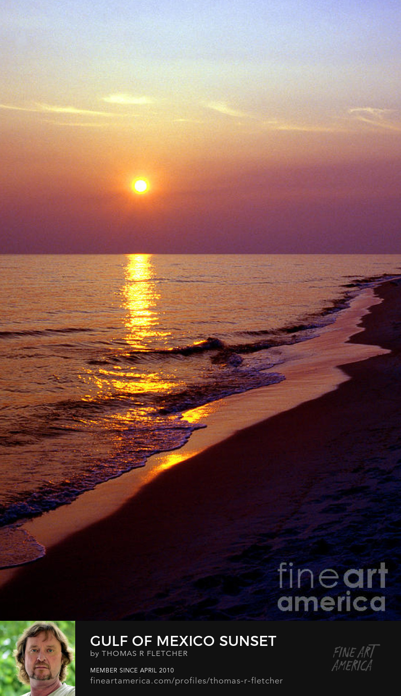 Art Prints Gulf of Mexico sunset Florida